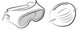 ماسک و عینک سنگ